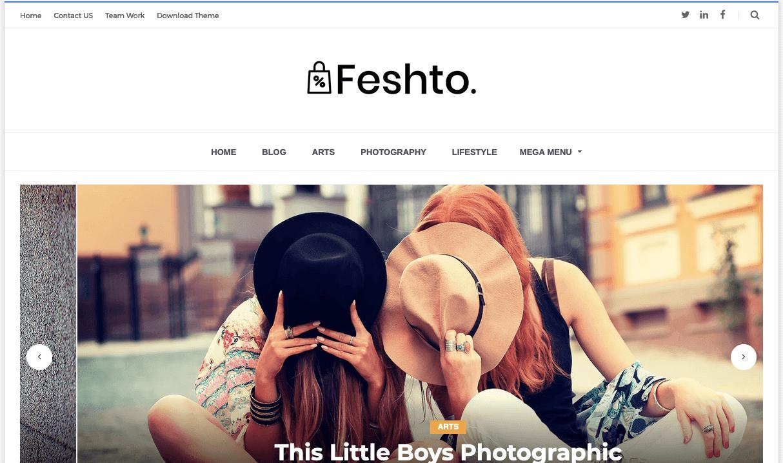 Feshto v1.0 - Responsive Photography Blogger Template