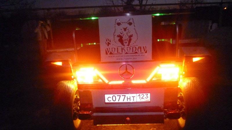 Mercedes W210 переделан в квадроцикл
