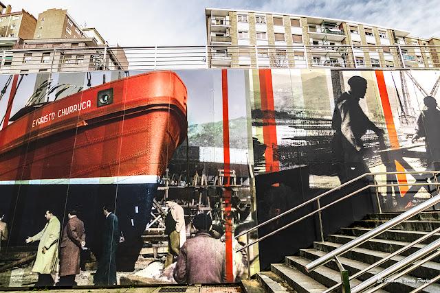 Mural Fotografico Matiko, por Estudios Durero - Bilbao, por El Guisante Verde Project