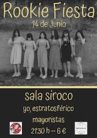 Concierto de Yo, estratosférico y Mayoristas en Siroco