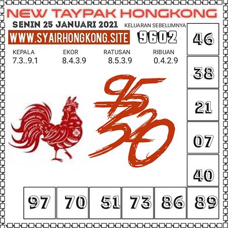 Prediksi Togel New Taypak Hongkong Senin 25 Januari 2021