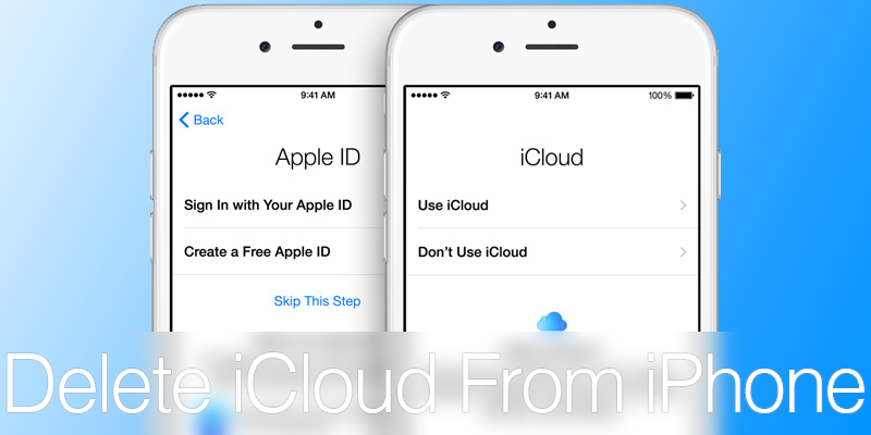 Change iCloud account on iPhone