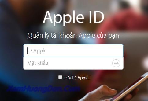 Cach thay doi mat khau apple id