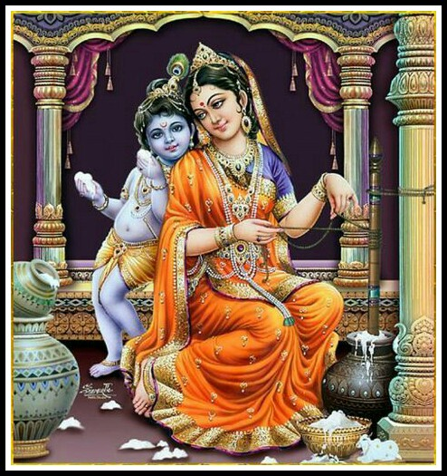 krishna with maa yashoda images