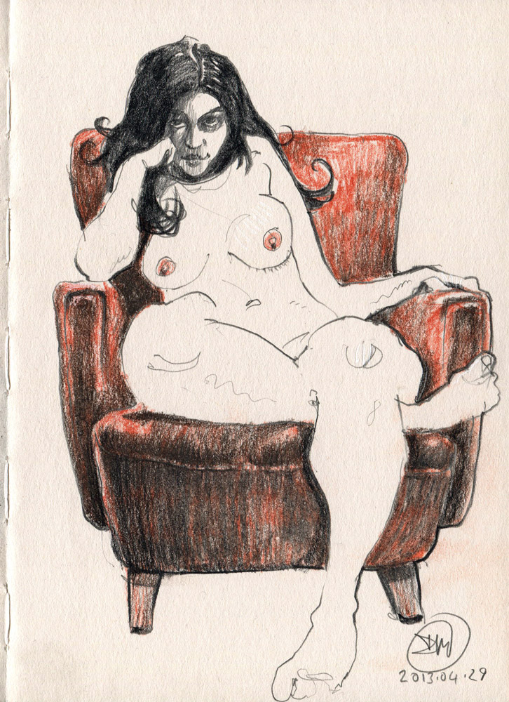 Nude sketch by David Meldrum