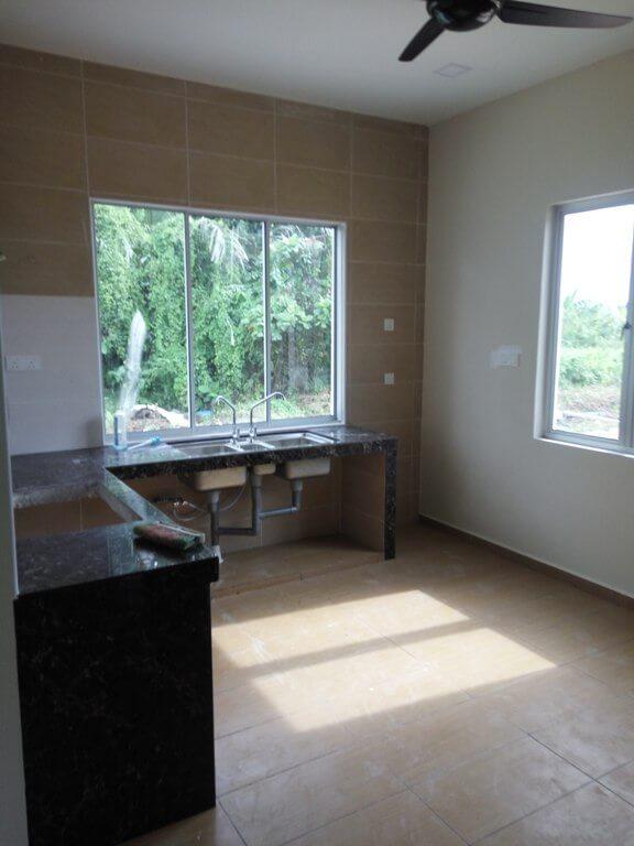 pandangan dapur rumah untuk kabinet