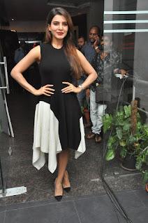 Samantha Ruth Prabhu Looks stunning in Black at Raju Gari Gandhi 2 Sucess Meet