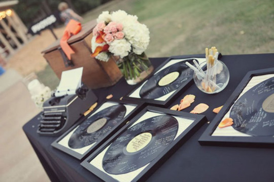 Creative vintage fall Wedding Guest Book Ideas