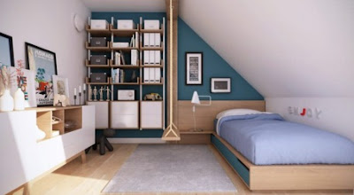 Loft Apartment Interior Design - Modern design attic apartments