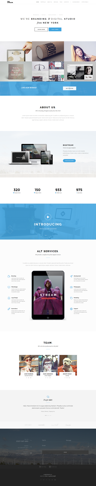 one page bootstrap3 theme