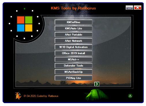 Ratiborus KMS Tools versão completa + Office Activator Download Grátis