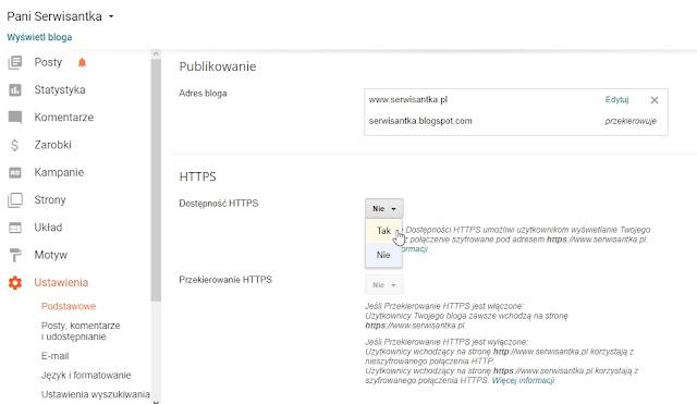 SSL dostępny na Bloggerze dla niestandardowych domen - zmiana HTTP na HTTPS