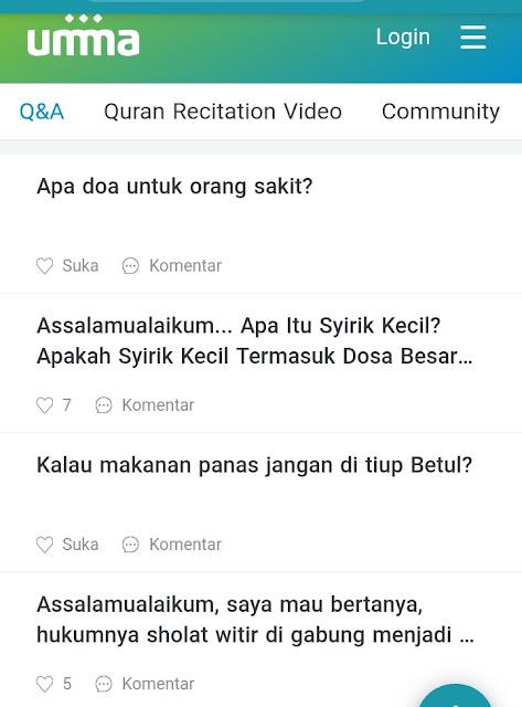 Contoh Q&A di Umma