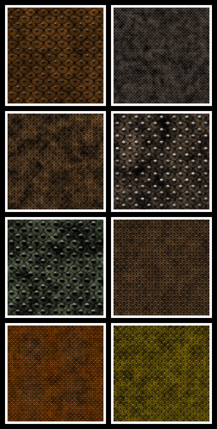 Studded Scale Leather seamless tiling patterns