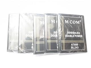 Baterai Lenovo A7000 BL243 BL 243 MCOM Double Power 5000mAh