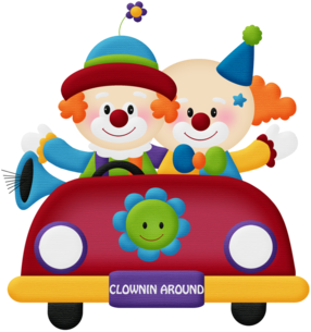 Vehicles of the Circus Clipart.