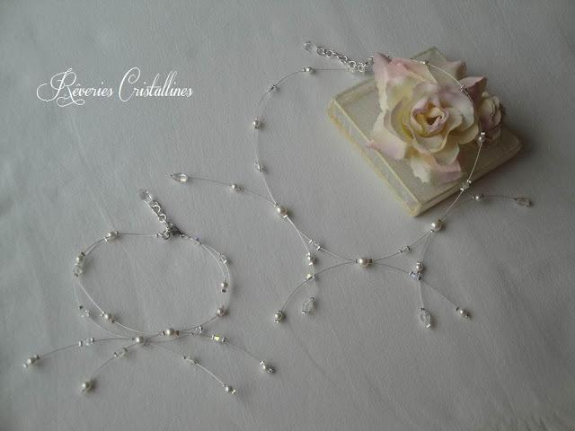 collier et bracelet mariée