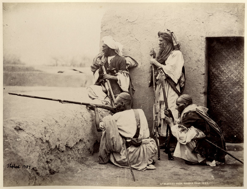 Afridi Soldiers from Khyber Pass - c1860-90's