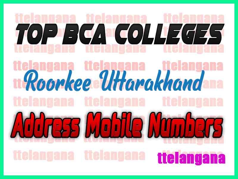 Top BCA Colleges in Roorkee Uttarakhand