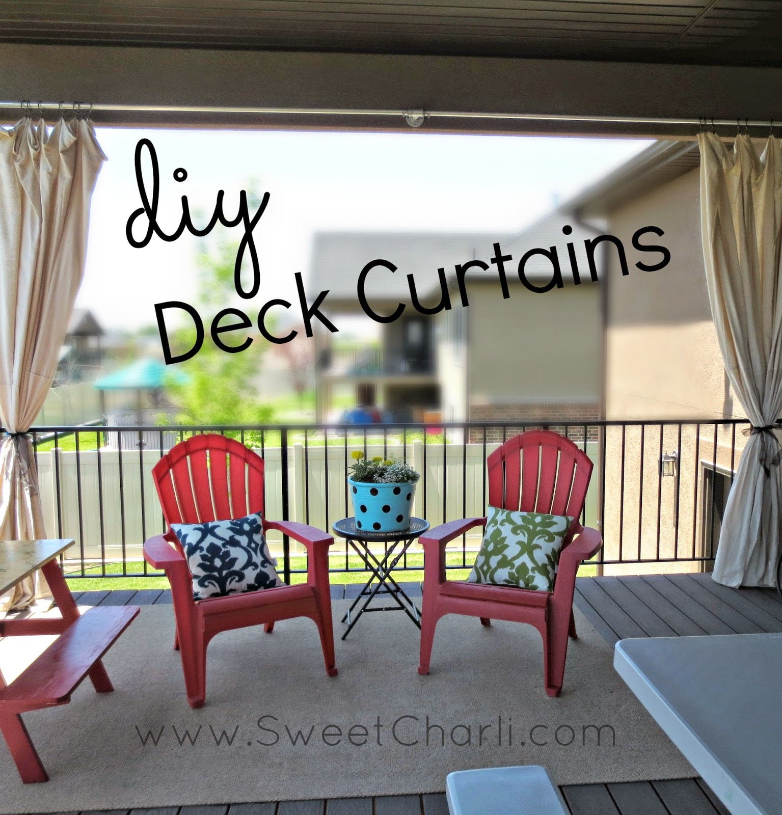 DIY Outdoor Curtains From Dropcloth