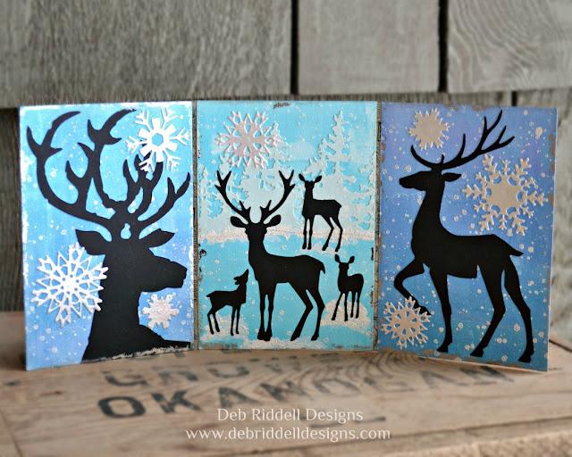 Winter Deer Triptych