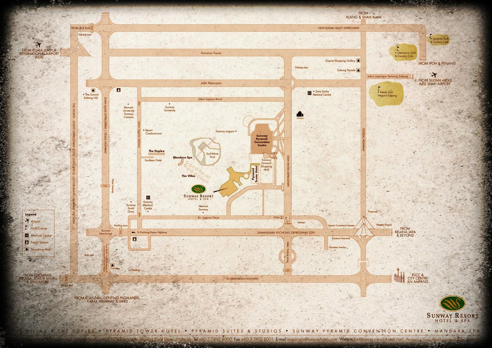 Pyramid Tower Hotel location map
