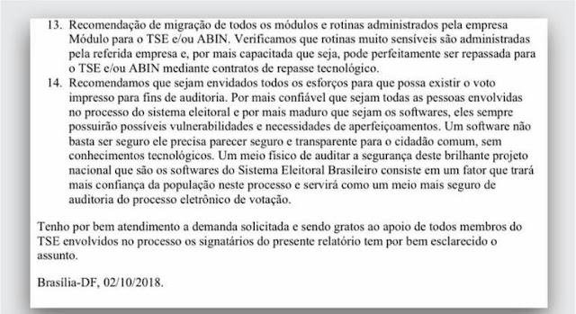 Em documento, PF defende voto impresso e Abin nas eleições