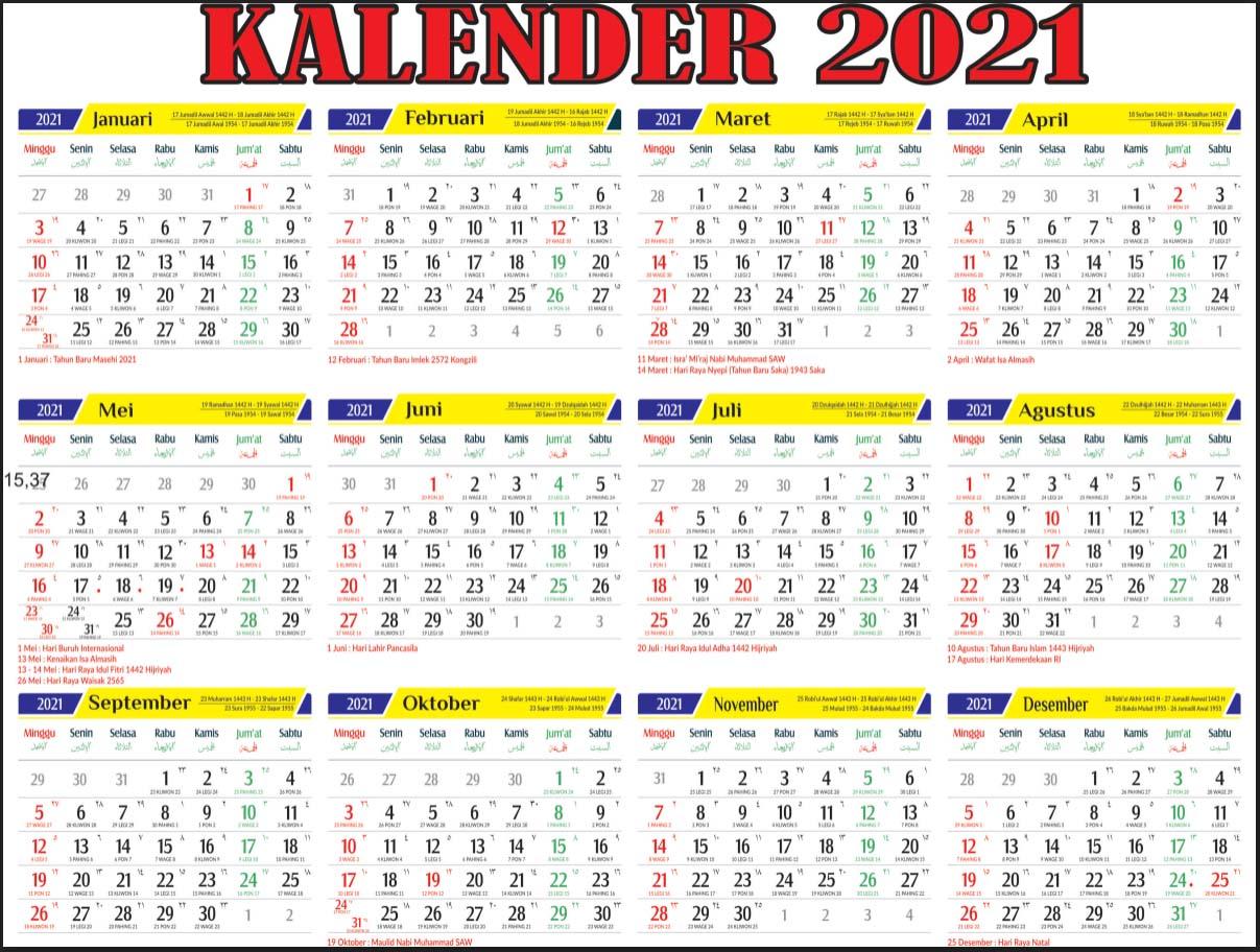 Download Master Kalender Tahun 2021 Gratis Pdf Cdr Mirwan Choky