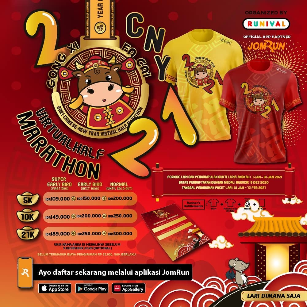Chinese New Year Virtual Half Marathon • 2021