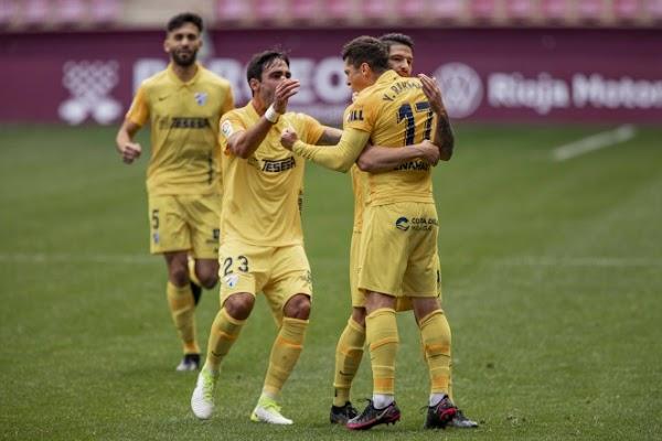 El Málaga gana en Las Gaunas con un gol de Yanis al UD Logroñés (0-1)