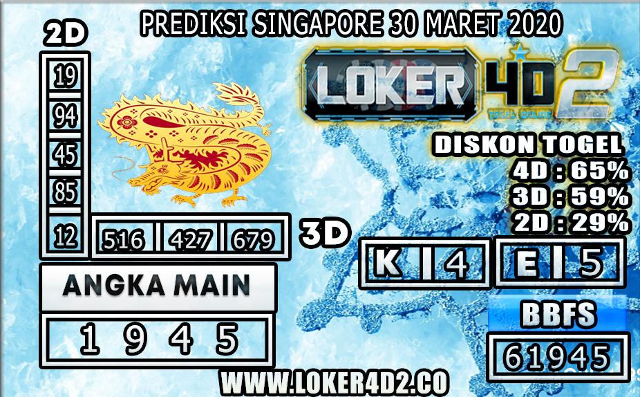 PREDIKSI TOGEL SINGAPORE LOKER4D2 30 MARET 2020
