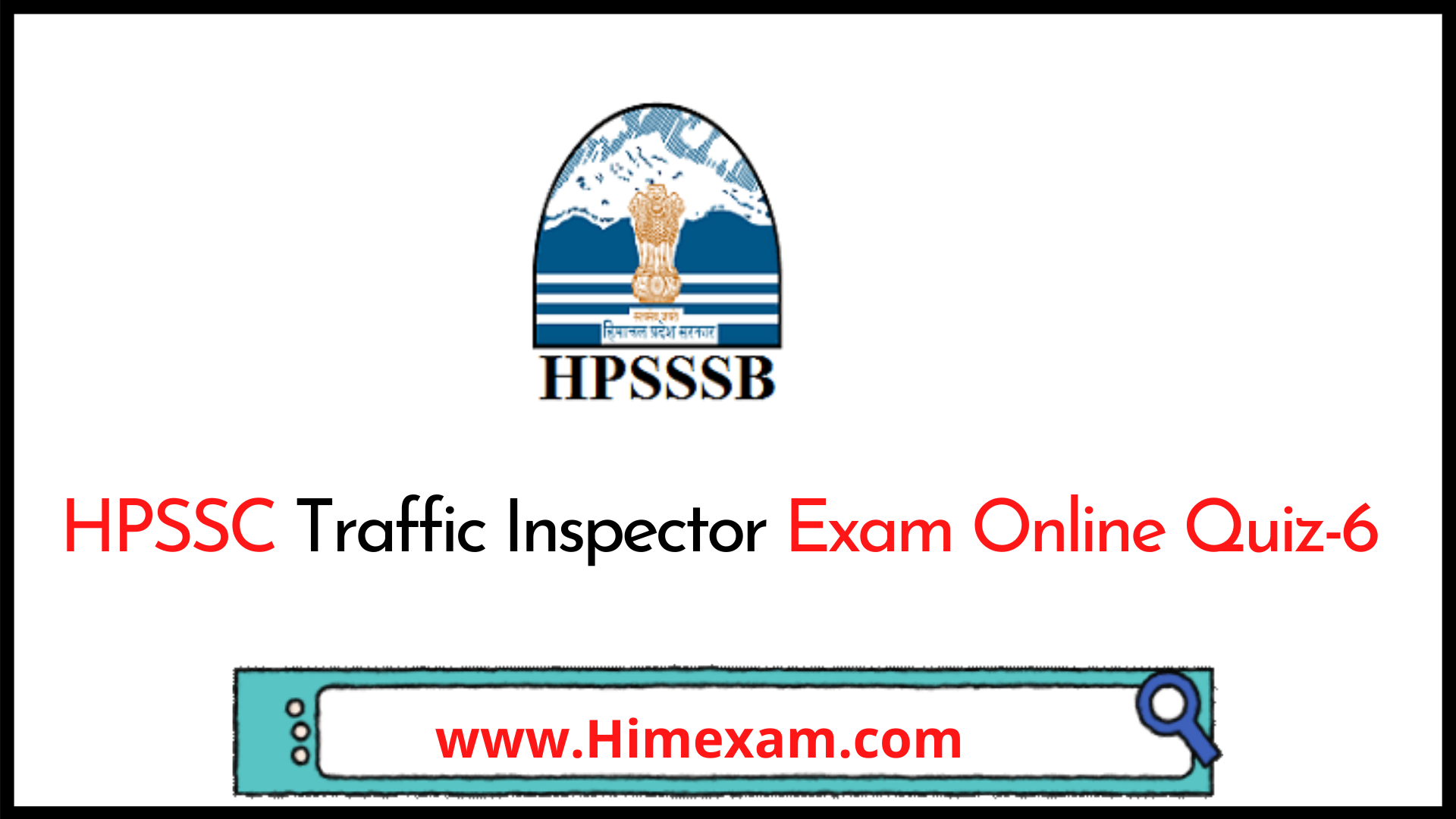 HPSSC Traffic Inspector Exam Online Quiz-6