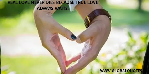 Real love never dies because true love always waits