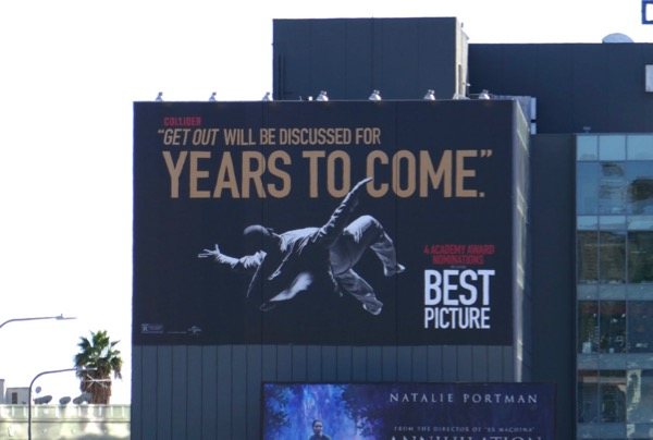 Giant Get Out Oscar nominee billboard