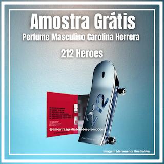 Amostra Grátis Brinde Grátis Caroline Herrera 212 Heroes