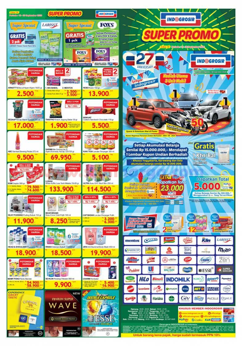 Katalog INDOGROSIR Super Promo Periode 16 - 30 September 2020 1