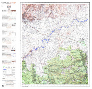 Zaiou Morocco 50000 (50k) Topographic map free download