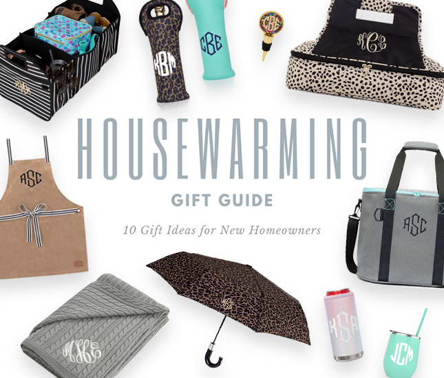 Housewarming Gift Guide for Customized Monograms