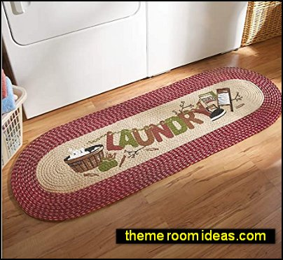 Vintage Laundry Room Decorative Braided Runner primitive decor