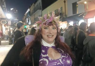 Bridget Eileen in purple fairy costume in New Orleans