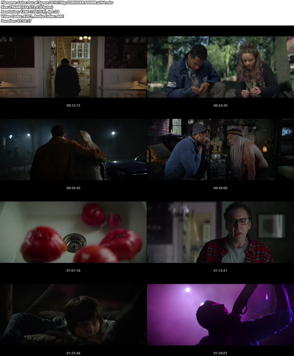 Color Out of Space 2019 720p HDRip x264 | 480p 300MB | 100MB HEVC Screenshot