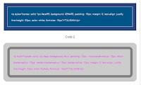 Cara Membuat Border Postingan Blog Kode HTML