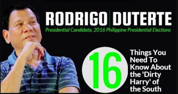 16 things you need to know about Rodrigo Duterte