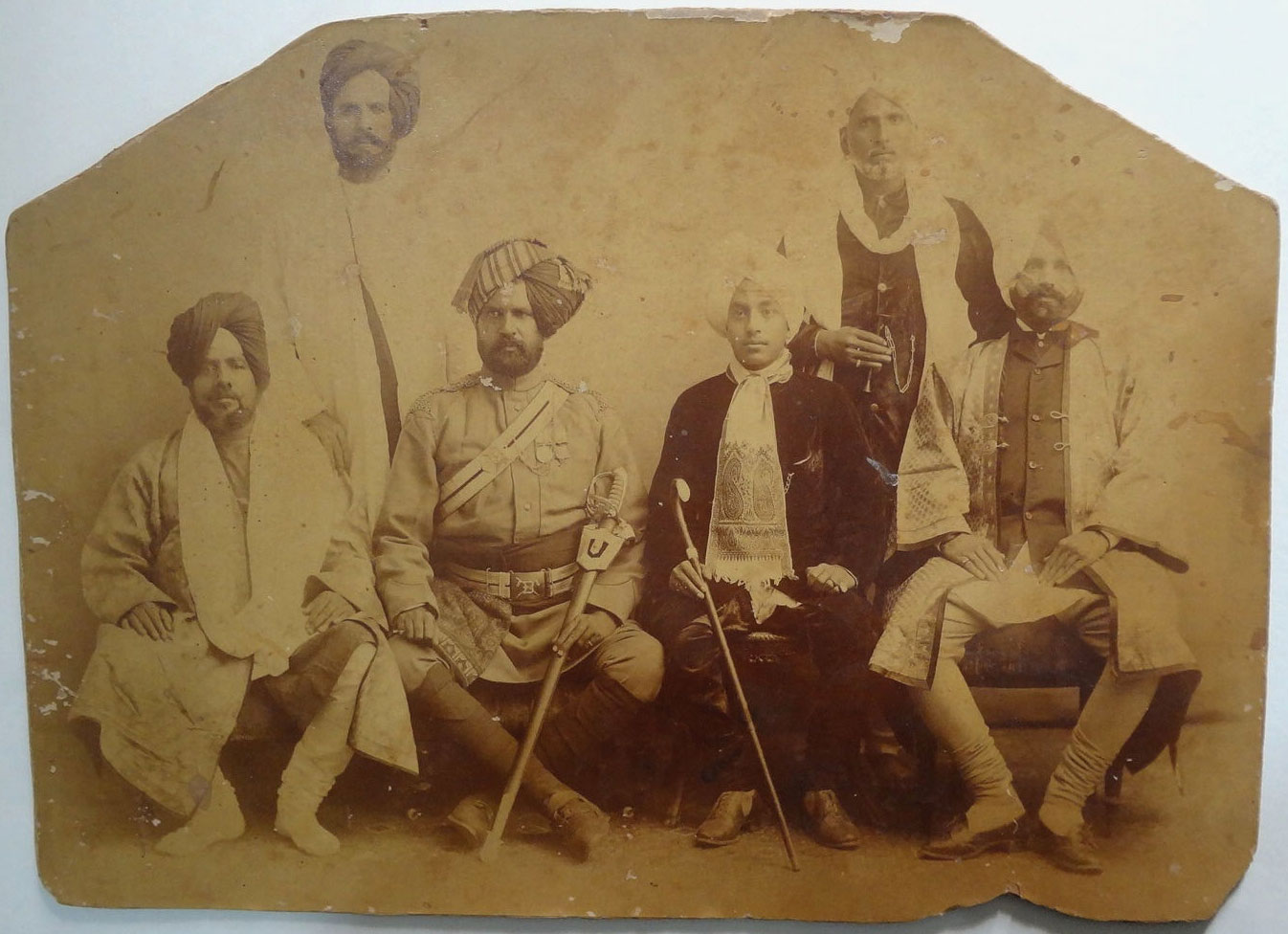 Sikh Prince with Group - 19th Century