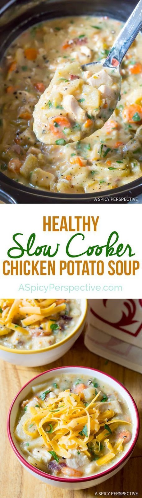 Best Healthy Slow Cooker Potato Soup with Chicken