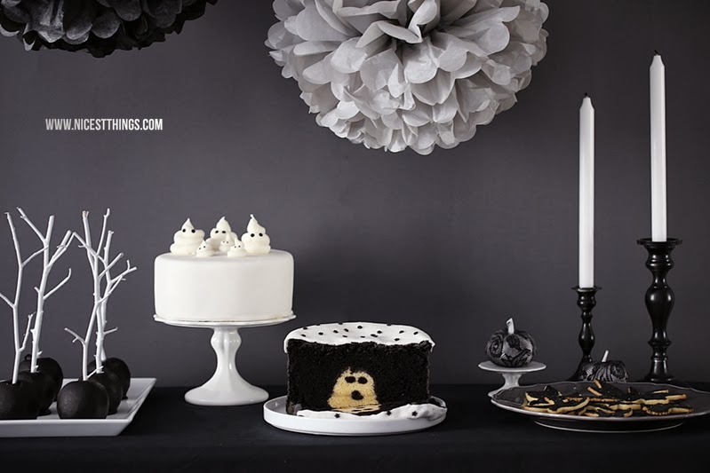 Halloween Sweet Table Halloween Party mit Geister Torte