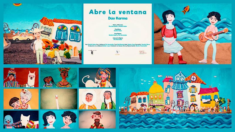 Dúo Karma - ¨Abre la ventana¨ - Videoclip / Dibujo Animado - Dirección: Fito Hernández - Xóchitl Galán. Portal Del Vídeo Clip Cubano. Música. Cuba.