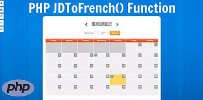 PHP jdtofrench() Function
