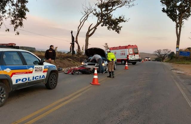 Homem ficou gravemente ferido em acidente na BR-167 em Varginha (MG) (Foto: Reprodução/Redes Sociais)