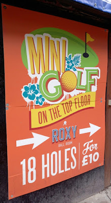 Mini Golf at Roxy Ball Room on Deansgate in Manchester